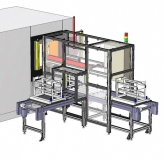Automatic line for pallet handling